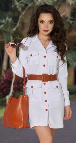 Стильное белое платье № 4236