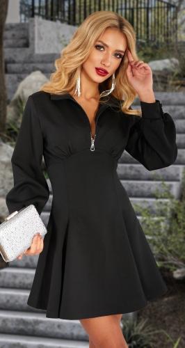 Черное платье на змеечке № 4607