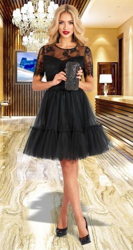 Красивое кружевное платье-двойка № 4598