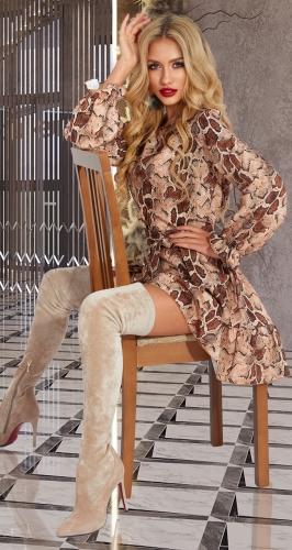 Платье из ткани с модным принтом № 4604