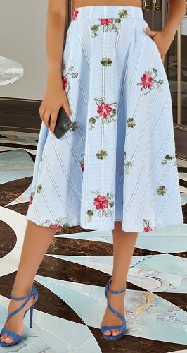 Коттоновая юбка № 4484