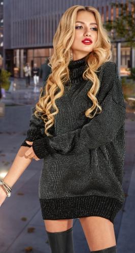 Удлинённый свитер с блеском № 901024