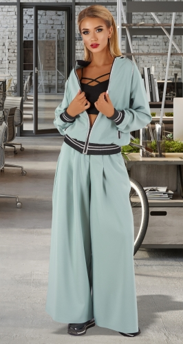 Стильный брючный костюм № 4461
