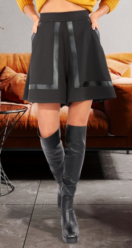 Юбка-шорты из ткани джерси № 43133