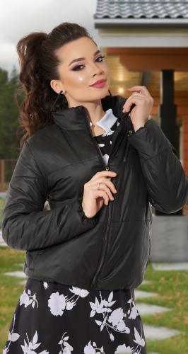 Короткая черная курточка № 11-75