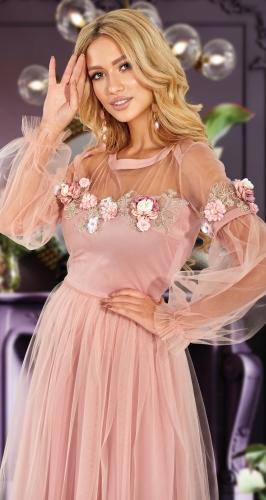 Платье с красивыми рукавами № 4618