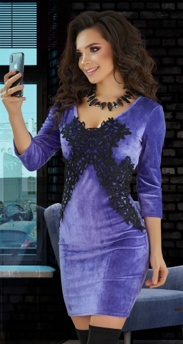 Красивое бархатное платье № 4095