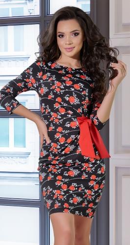 Платье с имитацией запаха № 890
