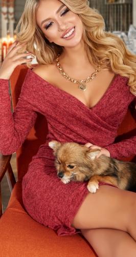 Мягкое и уютное платье из ангорки № 4625