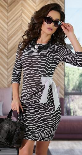 Стильное платье в полоску № 8902