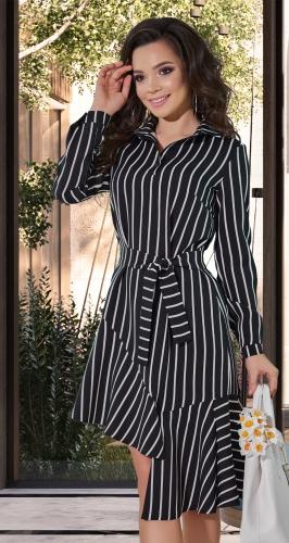 Стильное платье в полоску № 4256