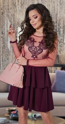 Платье с двухслойной юбочкой № 3865
