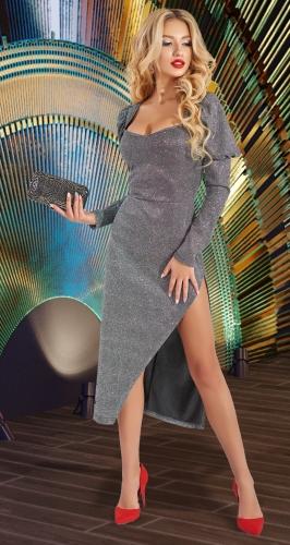 Сияющее платье с разрезом № 4635
