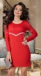 Красивое красное платье № 3866