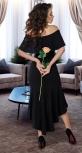 Роскошное чёрное вечернее платье № 3835
