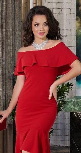 Роскошное красное вечернее платье № 3835