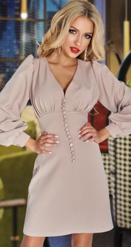 Платье с красивым декольте и лифом № 4633