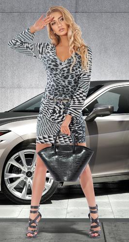 Черно - белое платье