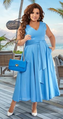 Красивое платье из льна № 43151