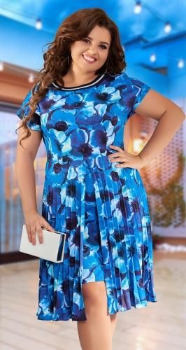 Платье гофре № 43231