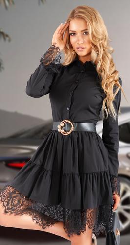 Стильное платье с гипюром