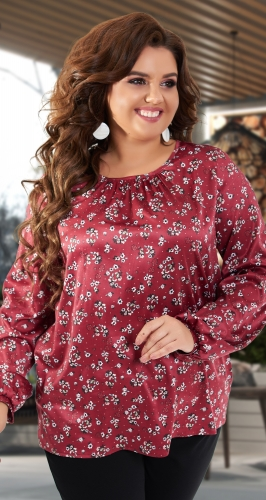 Шелковая блузка № 43171