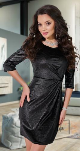 Чёрное вечернее платье № 18263