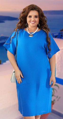 Свободное льняное платье № 42861