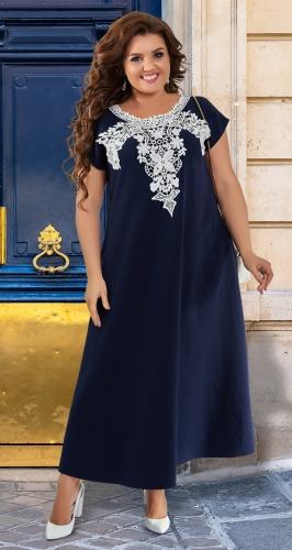 Красивое летнее платье с макраме № 43261