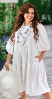 Свободное льняное платье № 42791