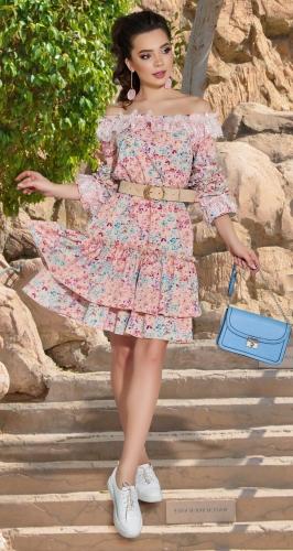 Яркое летнее платье № 43313