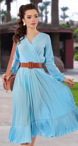Платье с юбкой гофре № 4321