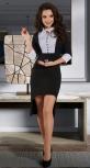 Стильное чёрно-белое платье № 3303
