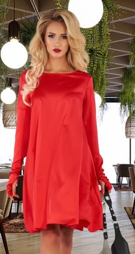 Свободное шелковое платье № 4503