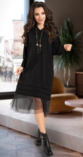Длинное вязанное платье № 10000