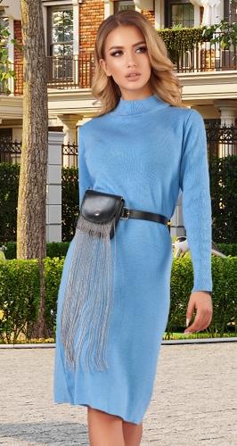 Вязаное платье - гольф