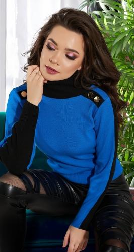 Облегающий двухцветный свитерок № 900925