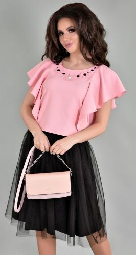Модный пудрово-черный комплект