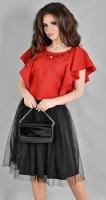 Модный красно-черный комплект