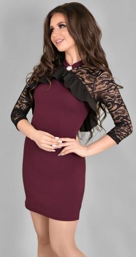 Платье № 35412N марсала