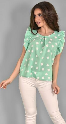 Мятная легкая блузочка №1776