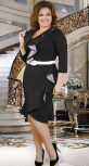 Кокетливое нарядное черное платье