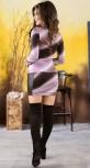 Яркое платье-туника с цветком