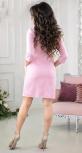 Стильное  платье цвета пудра