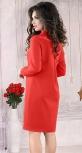 Стильное  платье красного цвета с кристаллами